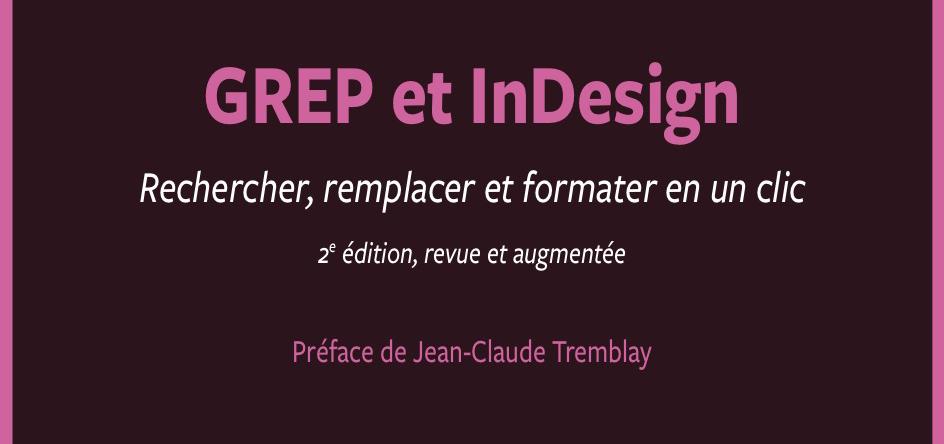 Grep et InDesign - cover